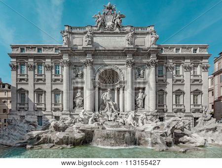 ROME, ITALY - SEPTEMBER 16, 2011: Trevi fountain, Fontana di Trevi in Italian, is a fountain in Rome, Italy.