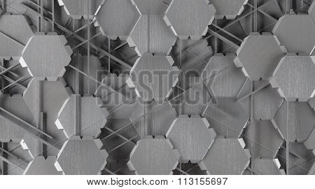 Creative Abstract Shape Aluminum Background