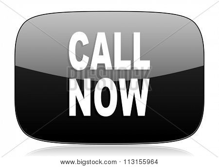 call now black glossy web modern icon