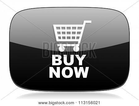 buy now black glossy web modern icon