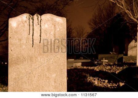 Blood On A Gravestone