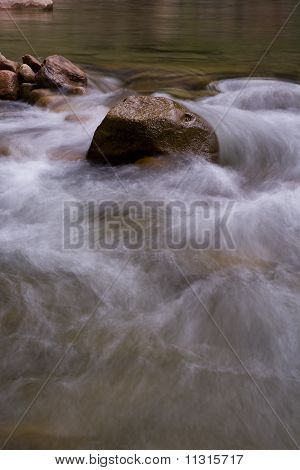 Flowing River Over Rocks