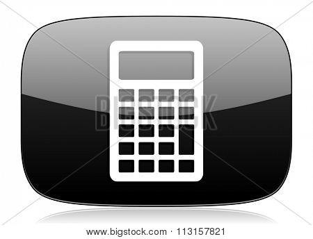 calculator black glossy web modern icon