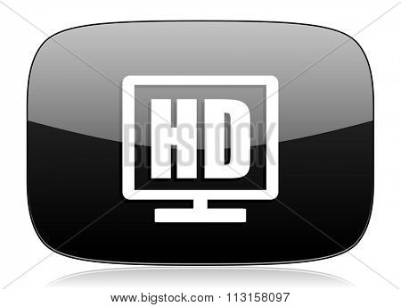 hd display black glossy web modern icon