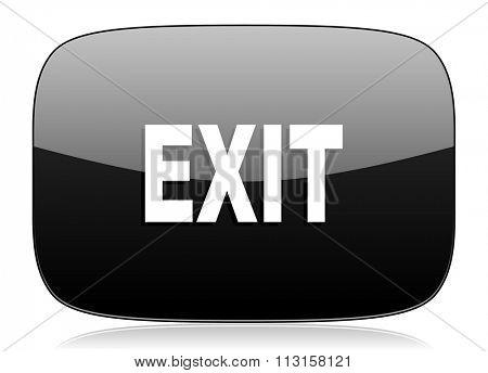 exit black glossy web modern icon