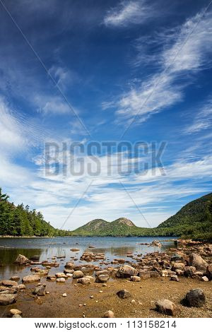 Jordan Pond, Acadia National Park, Mount Desert Island, maine, USA