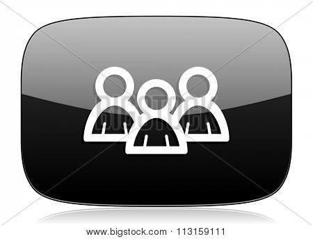forum black glossy web modern icon