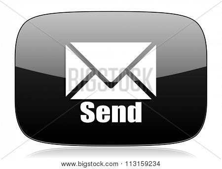 send black glossy web modern icon