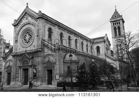 The Church Notr Dame Des Champs, Paris, France.