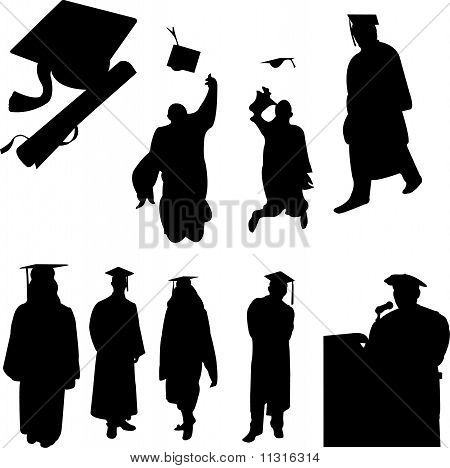 Graduation Students Collection - Vector