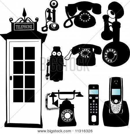 teléfono colección - vector