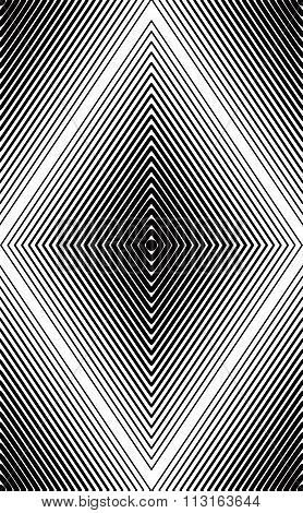 Vector Monochrome Stripy Endless Pattern, Art Continuous Geometric Background With Graphic Lines.