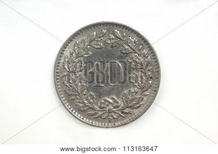 10 Switzerland Helvetica Coin