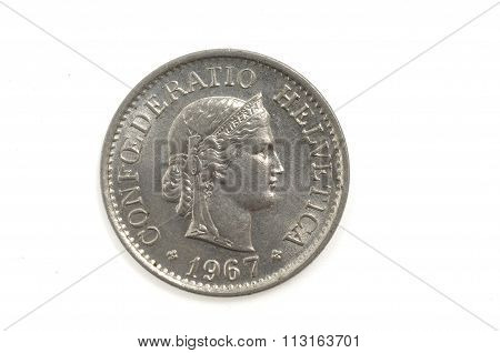 10 Switzerland  Helvetica Coin 1967