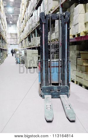 The image of forklift under the white background