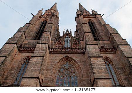 Gothic St. Elizabeth's Church In Marburg. Horizontal