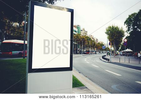 Blank billboard with copy space for your text message or promotional content
