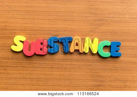 Substance Colorful Word