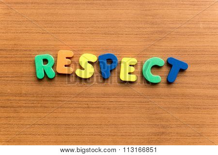 Respect Colorful Word