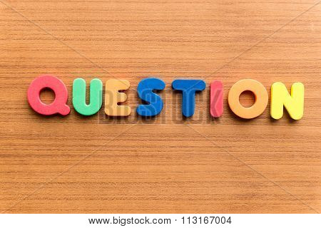 Question Colorful Word