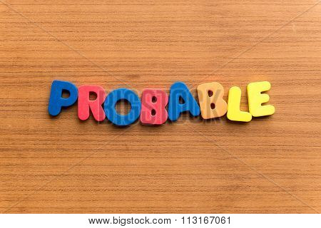 Probable Colorful Word
