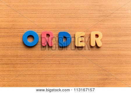 Order Colorful Word