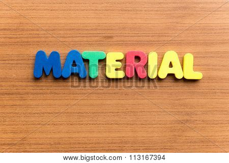Material  Colorful Word