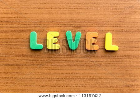 Level  Colorful Word