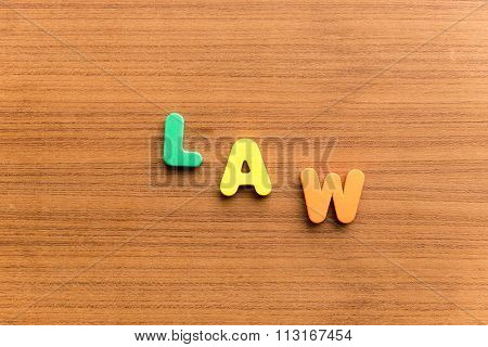 Law  Colorful Word