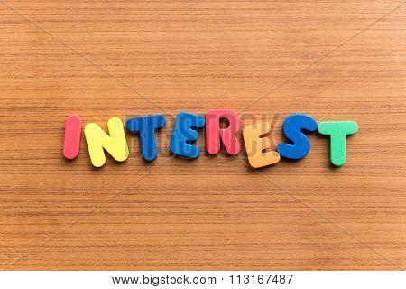 Interest  Colorful Word