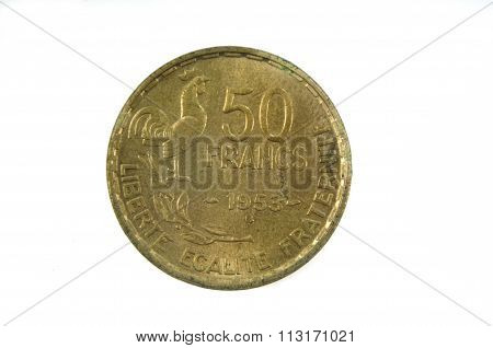 French Currency Of The Twentieth Century 50 Francs