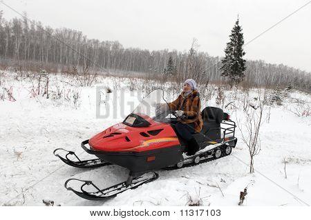 Woman Has Winter Vacation