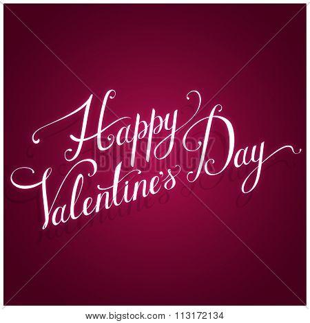 Valentine's Day greeting card. Vector illustration.