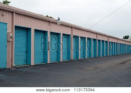 Row Of Doors In Perspective