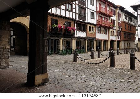 Square Of Hondarribia, Fuenterrabia,basque Country, Spain