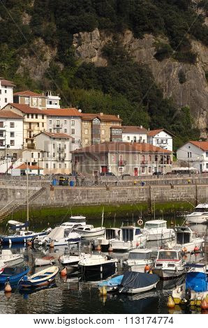 Harbor Of Elantxobe, Basque Country Spain