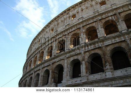 Roman amphitheater in Rome, Italy