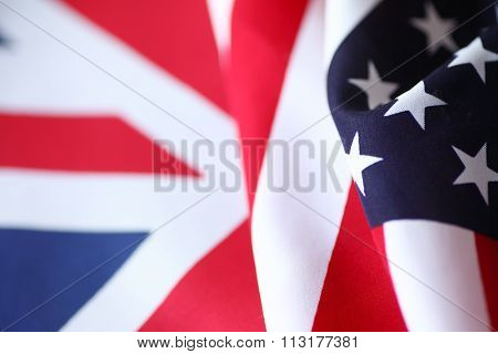 United States and British flags