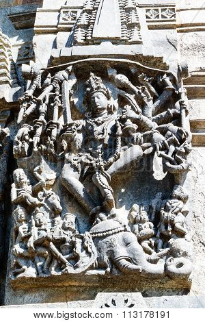 Statue of Lord Shiva at Channakesava temple, Belur captured on December 30th, 2015