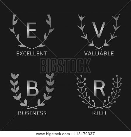 Silver award symbols