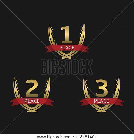 Golden award set