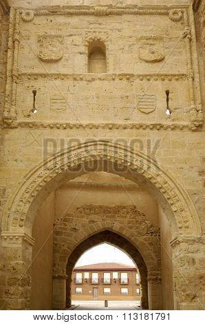 Detail  San Andres Door, Villalpando, Zamora, Castilla Y Leon, Spain