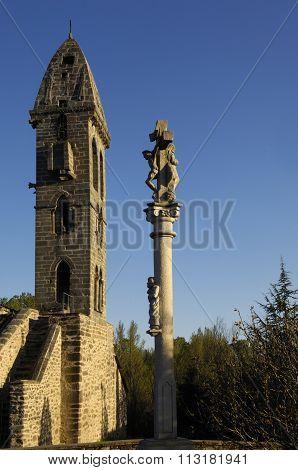 Church Nuestra Señora De La Asuncion, National Monument, Mombuey, Zamora Province, Spain