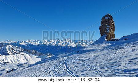 Winter Day On The Glacier De Diablerets