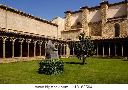 Cloister, San Francisco De Asis Convent, Sangüesa, Navarra, Spain
