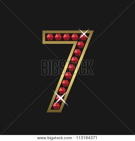 Number seven symbol