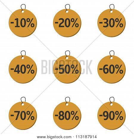 Discount price icons