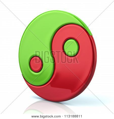 Colorful Ying Yang Symbol Of Harmony And Balance