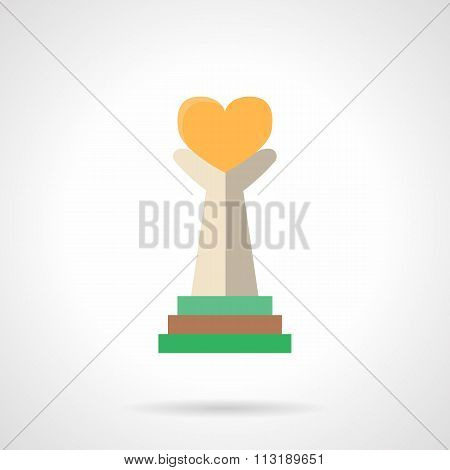 Charity flat color style vector icon