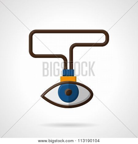 Observation abstract flat color vector icon